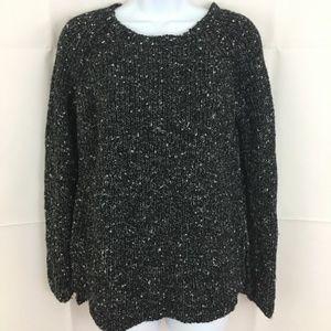 ANN TAYLOR Black Sweater w/White speckles